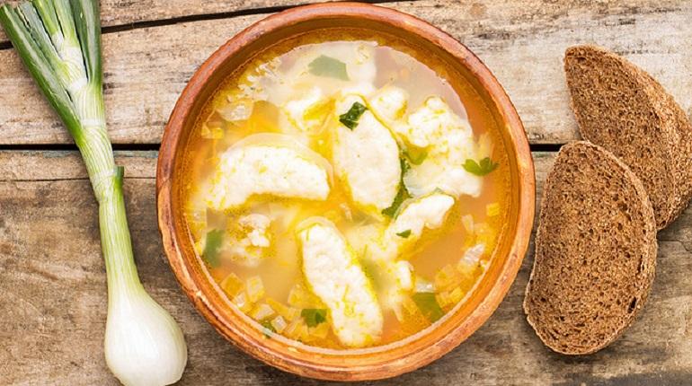 клецки, суп
