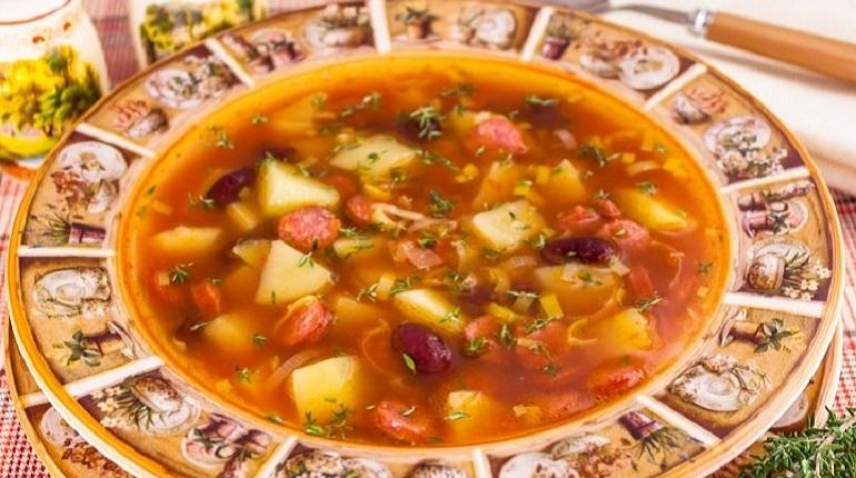 суп с фасолью, суп, фасоль