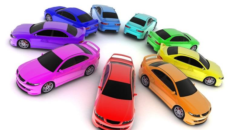 цветные машины