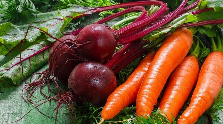 свекла, морковь