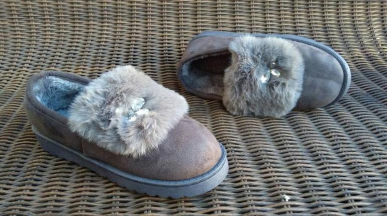 Меховые туфли, зимние туфли