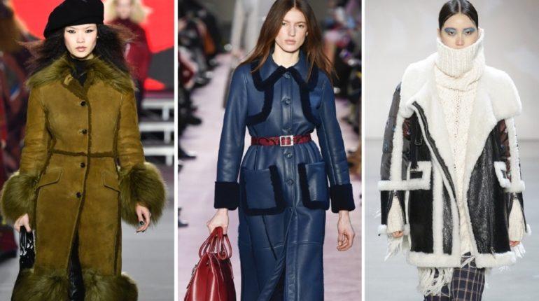 Мода,комбинированные дубленки