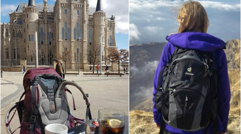Путешествие, девушка с рюкзаком