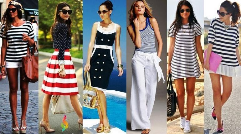 мода, стиль, морской образ