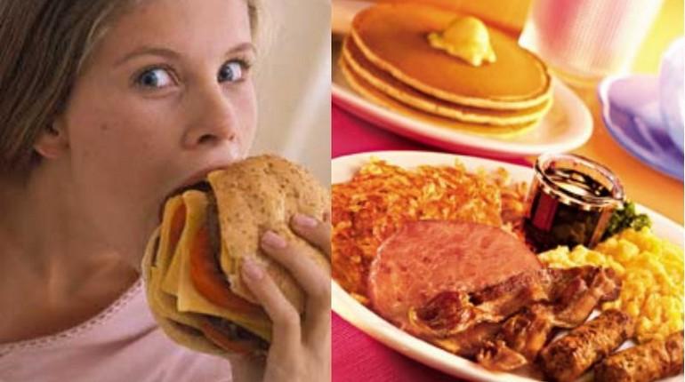девушка кушает,девушка ест вредную еду, девушка и обжорство