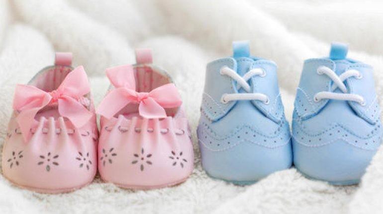 пол ребенка, пинетки для новорожденных, мальчик или девочка