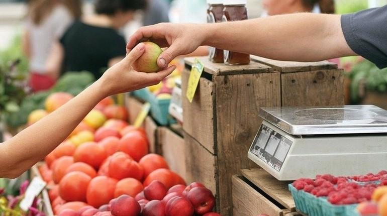 овощной магазин, покупка овощей