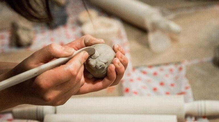 лепка из глины, изделия своими руками