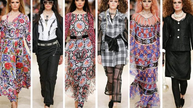 показ моды, модели на подиуме