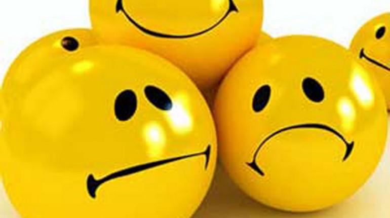 шарики с разными эмоциями, желтые шары