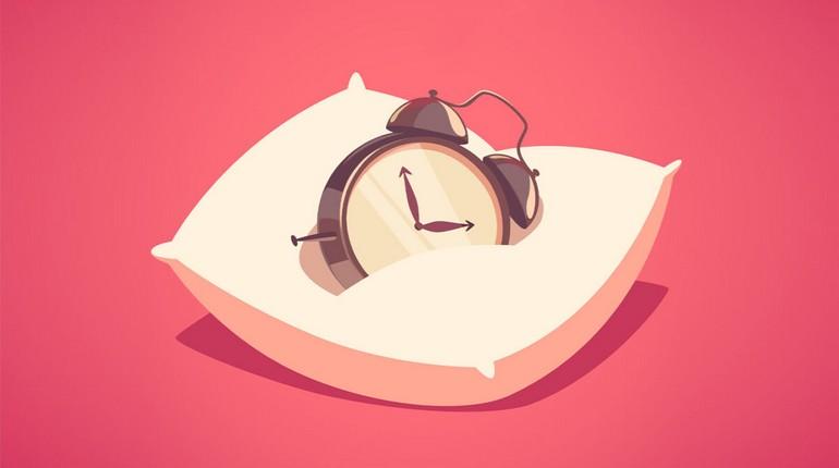 будильник на подушке рисунок