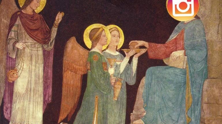 изображение библейского сюжета, икона