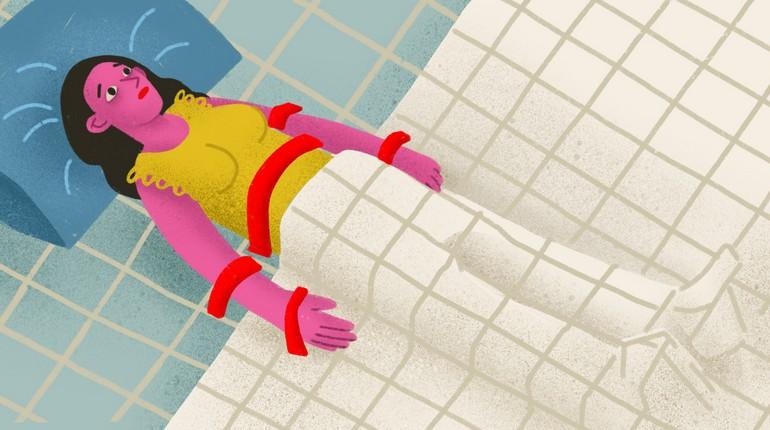 сонный паралич, девушка под одеялом