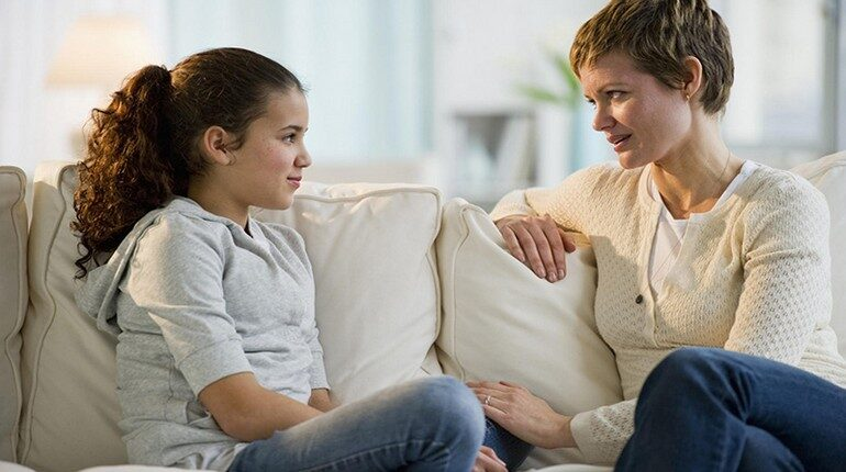 разговор мамы с дочкой, общение с мамой, общение с подростком