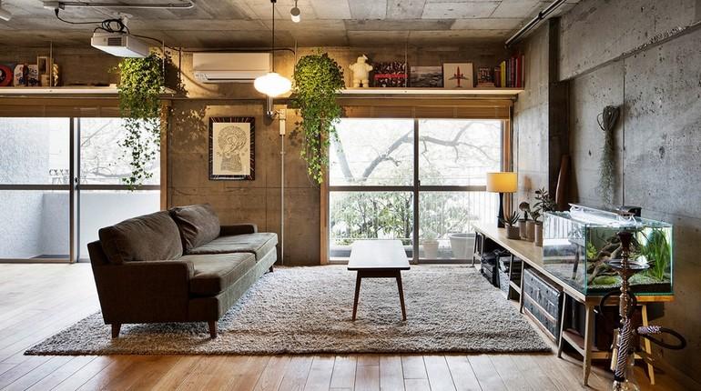 квартира в стиле гранж, интерьер современной квартиры