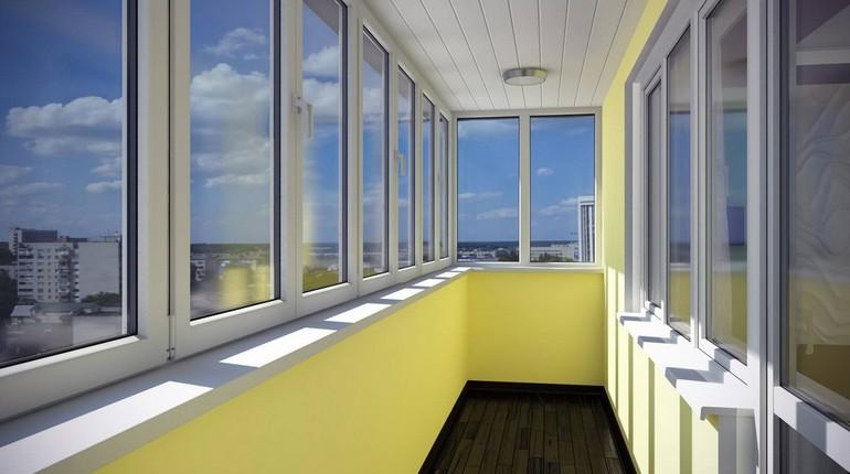 балкон современного дома