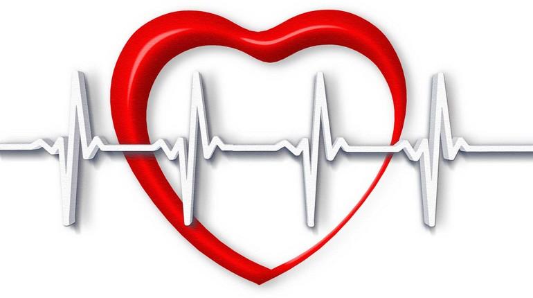 рисунок сердечко и кардиограмма