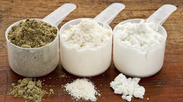 протеин в мерных ложечках