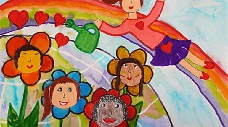 дети рисуют, рисунок красками