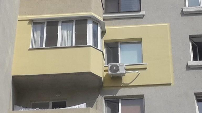 вид с улицы, балкон, утепление снаружи