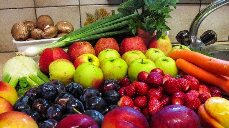 хранение урожая, фрукты, овощи и зелень