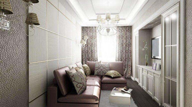 узкое пространство, узкая комната, как сделать узкую комнату шире