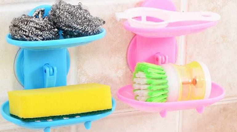 щетки и мочалки для уборки и мытья посуды