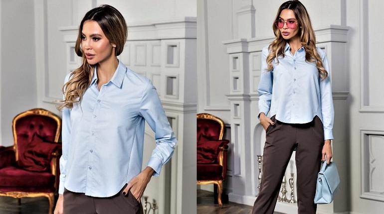 мужская рубашка, голубая мужская рубашка, классическая рубашка в женском гардеробе