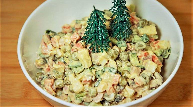 салат оливье, новогодний салат, виды салата оливье