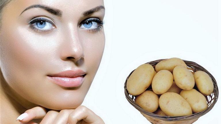 лицо девушки и картошка, девушка рядом с картошкой