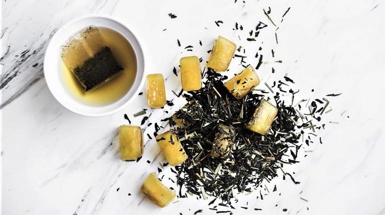 лед из чая, черный чай для лица, лед из черного чая