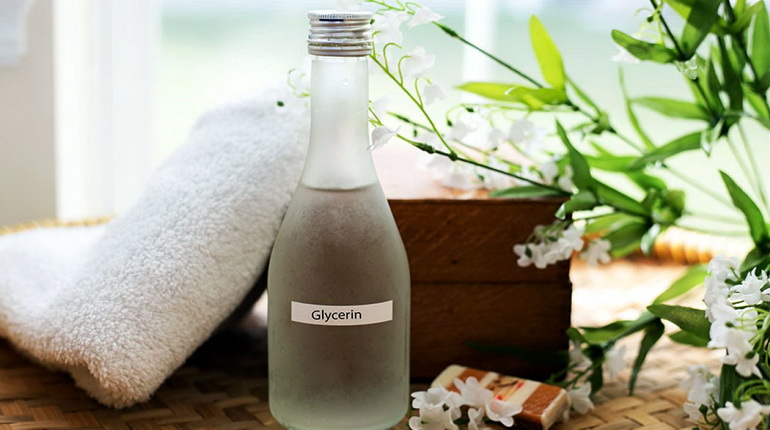 бутылка с глицерином, глицерин для волос