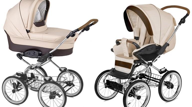 две коляски, разные виды колясок для младенцев