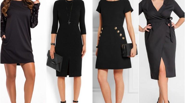 маленькое черное платье, девушки в черных платьях, классика