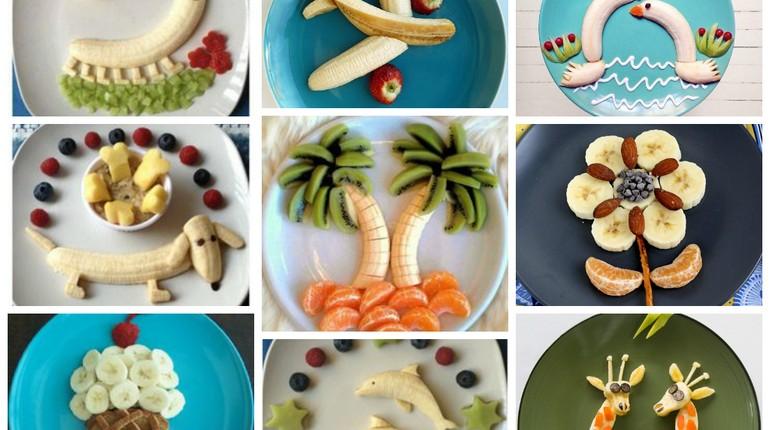 оформление детских блюд,блюда для детей, интересное оформление