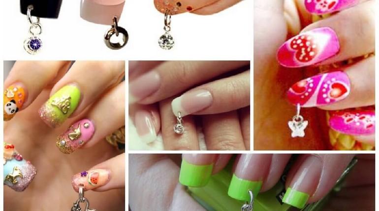ногти с пирсингом, варианты пирсинга для ногтей