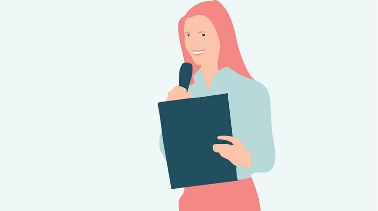картинка девушки с папкой, рисунок деловой девушки