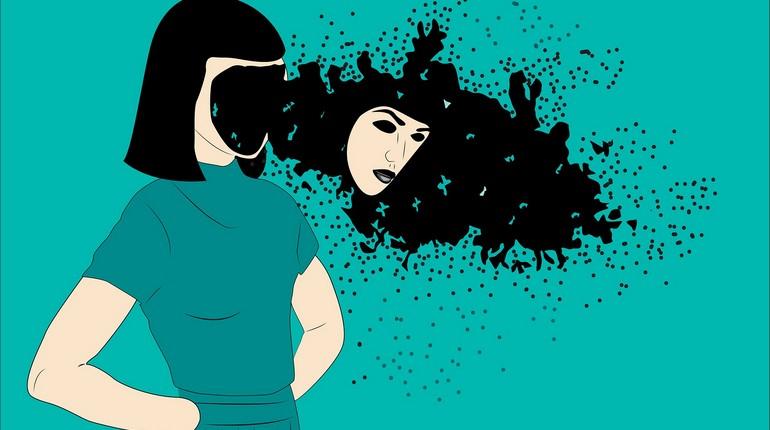 рисунок девушки без лица,социопатия
