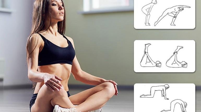 зарядка для улучшения кровообращения, девушка делает упражнения