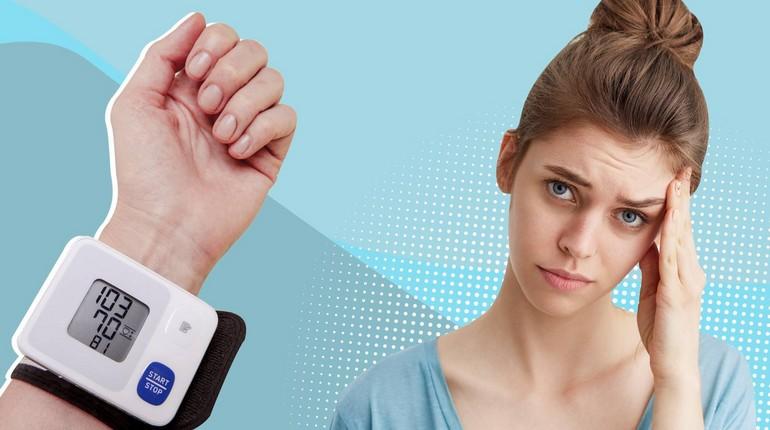измерение давления, пониженное давление у девушки