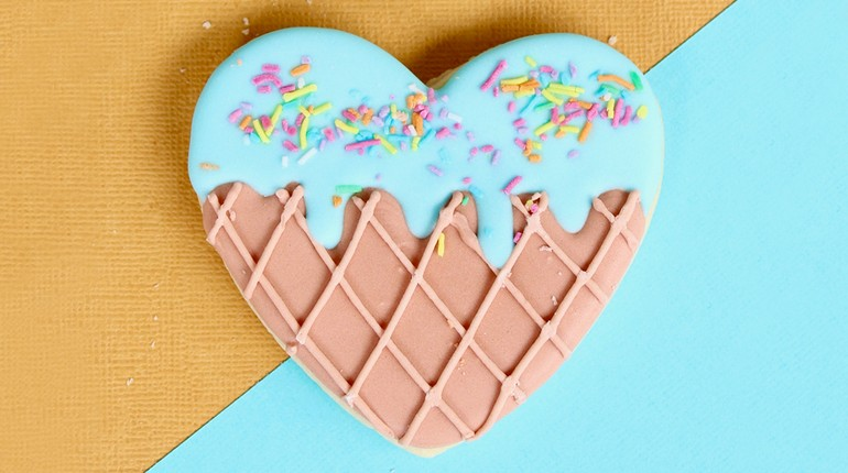 сладкое сердце, вафельное сердечко