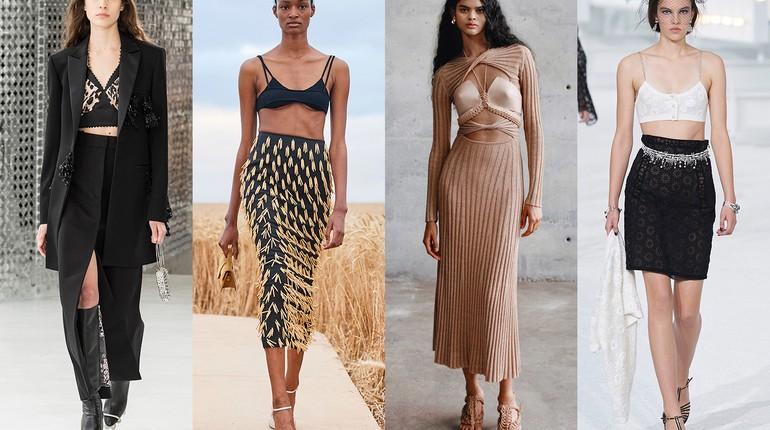 модели высокой моды, показ мод, коллекции модной одежды