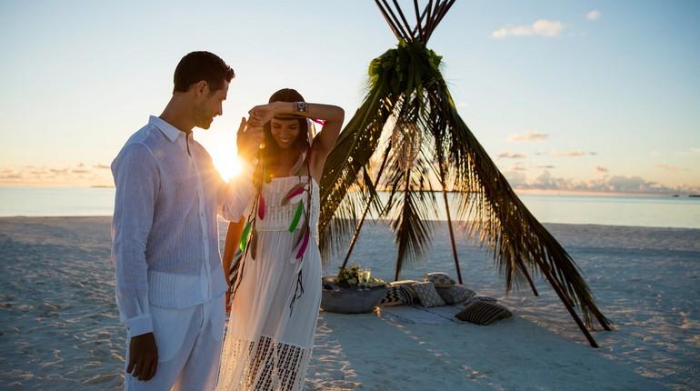 свадьба в раю, свадебная церемония на берегу океана