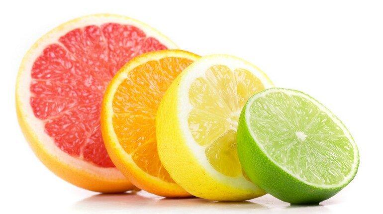 грейпфрут апельсин лимон и лайм, дольки цитрусовых