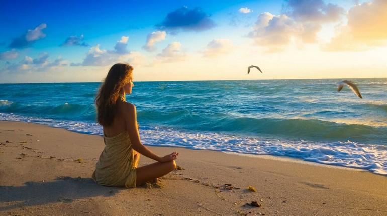 медитация на берегу моря, как вернуть энергию, зарядится энергией